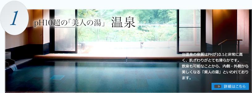 pH10超の「美人の湯」 温泉